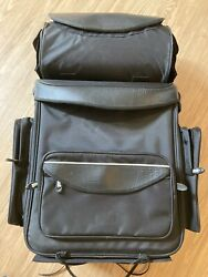 Tour Master Giant Travel Sissy-bar Motorcycle Luggage Bag Black With Rain Cover