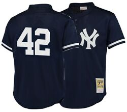 New Authentic Cooperstown Collection Yankees Mariano Rivera 42 Baseball Jersey L