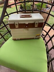Vintage Plano Model 757 Tackle Box 4 Drawers Fishing Gear Large Plastic Case Nos