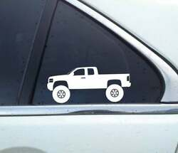 2x Lifted 4x4 Stickers For Chevrolet Silverado 2nd Gen 2007-2014 Ext Cab T177