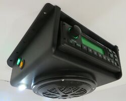 Tractor Utv Golf Cart Boat Overhead Lighted Roof Mount Weather Band Stereo Radio
