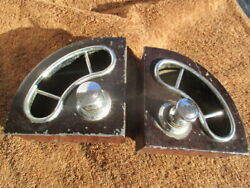 1920and039s-1930and039s Pair Of Recessed Ashtrays With Built-in Cigar Lighter
