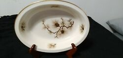 Lenox China Pine Cone 9 1/2 Oval Serving Bowl Mint