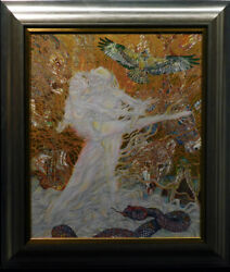 Guillaume Azoulay Genesi 4928 Giclee On Canvas With Gold Leaf Make An Offer