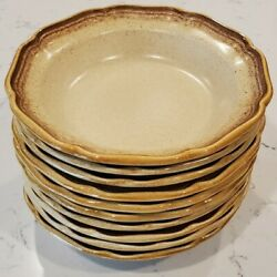 10 Vintage Mikasa Whole Wheat E8000 Oven To Table Soup/cereal Bowls 8.25