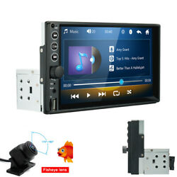 7in Mp5 Tft Touch Screen Car Stereo Radio Single 1din Bluetooth Aux Input+camera