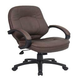 Boss Office And Home Bomber Brown Executive Chair