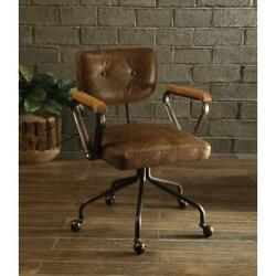 Acme Furniture Hallie Office Chair Vintage Whiskey Leather