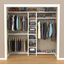 Closetmaid Wood Closet System 48 In. W - 112 In. W Impressions Basic White