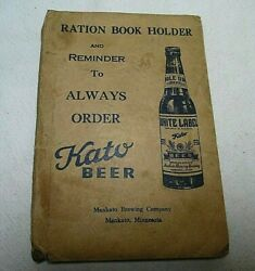 Wwll 5 War Ration Stamp Books Partly Full In Ration Book Holder By Kato Beer