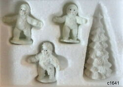 Dept 56 Snowbabies Frosty Frolic [set Of 4] Pewter Miniature Figurine New In Box