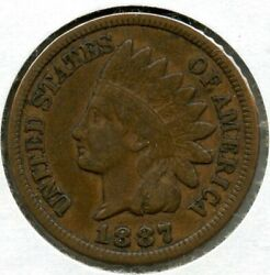 1887 Indian Head Cent Penny - Bq22