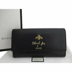 Long Wallet Bee Blind For Love Leather Gold Fittings Black Recommendation