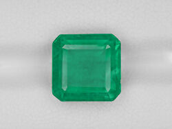Igi Certified Zambia Emerald 5.21 Cts Natural Lively Intense Green Octagonal