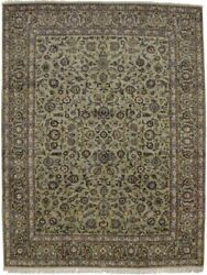 Floral Classic Hand Knotted Vintage 10x13 Sage Green Area Rug Oriental Carpet