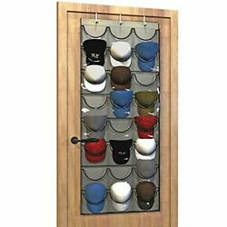 Baseball Hat Rack From 24 Pocket Over-the-door Cap Organizer With Clear Deep