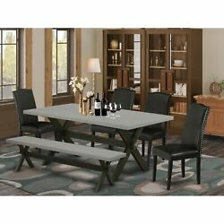 East West Furniture X697en169-6 6-pc Dinette Set - 4 Dining Chairs A Small B...