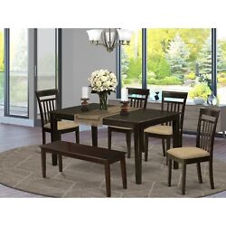 Cap6s-cap-c 6 Pc Dining Room Set-top Kitchen Table And 4 Kitchen Chairs Plus ...