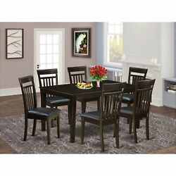 Cap7s-cap-lc 7 Pc Dining Room Dining Table And 6 Dining Chairs