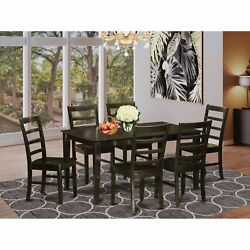 Capf7-cap-w 7 Pc Formal Dining Room Set-table And 6 Matching Dining Chairs