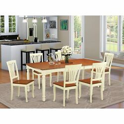 Doav7-whi-w 7 Pc Dinette Table Set -kitchen Dinette Table And 6 Dining Chairs