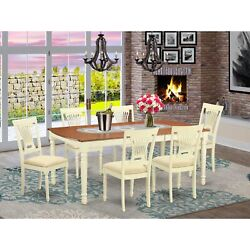 Dopl7-whi-c 7 Pc Dinette Set -dining Table And 6 Dining Chairs