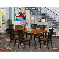 Dowe7-bch-w 7-pc Dining Table And Chair Set With 1 Dover Table And 6 Chairs I...