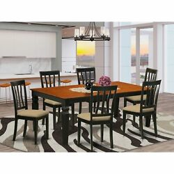 Lgan7-bch-c 7 Pckitchen Table Set With A Dining Table And 6 Kitchen Chairs In...