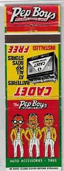 Front Strike Matchcover The Pep Boys Auto Parts Cornell Tires Matchbook