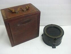 Antique Pioneer Instrument Compass - Type Number 1811-1-a With Hard Wood Case