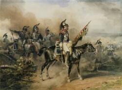 Perfect 36x24 Oil Painting Handpainted On Canvas French Cuirassiers @10728