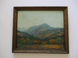 Antique Oil Painting Small Gem Impressionist Landscape Early California 1920and039s