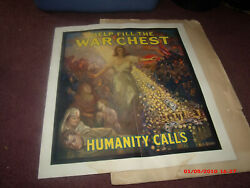 Antique Ww 1 Scrapbook With Original Posters/mail Advertising War Chest Items