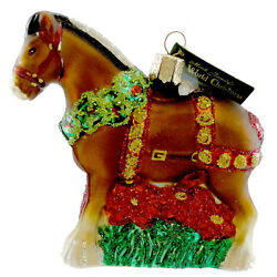 Old World Christmas Holiday Clydesdale Glass Ornament Horse Holiday Beer 12255