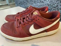 2017 Nike Sb Zoom Dunk Low Pro Track Red 854866-616 Shoes Sneakers Us8