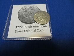1777 Silver Early American Colonial Coin Before Us Minted Coins Free Shipping