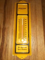 Vintage Farmers Bank Advertising Thermometer - Independence Lamont Iowa Ia