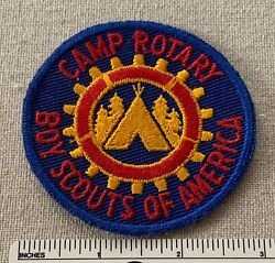 Vintage Camp Rotary Boy Scouts Of America Uniform Badge Patch Bsa Ce 40s 50s
