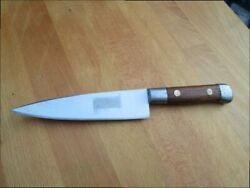 Finest Antique Sabatier Carbon Steel Chef Knife W/iron Bolsters In A+ Conditon