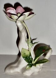 Cybis Windflower Porcelain Sculpture With Lady Bug
