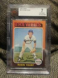 1975 Topps 223 Robin Yount Bgs 7 Milwaukee Brewers Rookie Graded