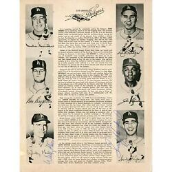 Mlb All Stars Signed Program With Multiple Signatures - Psa/dna Certified