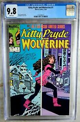 Kitty Pryde And Wolverine 1 Marvel 1984 Cgc 9.8 Nm/mt White Pages Comic R0103
