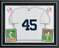 Gerrit Cole New York Yankees Deluxe Framed Autographed White Nike Replica Jersey