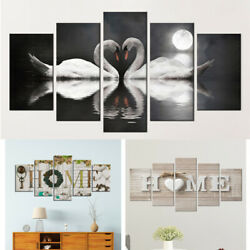 5Pcs Unframed Modern Canvas Wall Art Painting Print Picture Home Room Decor Set