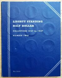 1937 - 1947 Liberty Standing Half Dollar Collection Book.  30 Coins - Full Set