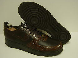 Mens Size 11 Nike Air Force 1 Lux And03907 315583 221 Crocodile Sneakers Shoes