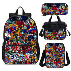 Transformers G1 Kids Boys School Backpack Cooler Lunch Box Pencil Case Gift Lot