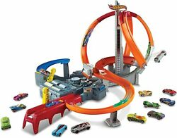 Hot Wheels Team Hot Wheels Hw Race Spin Storm Track Set 2 Player Action