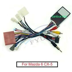 Car 16pin Audio Stereo Wiring Harness W/ Canbus Box For 2013 Mazda 6 12-15 Cx-5